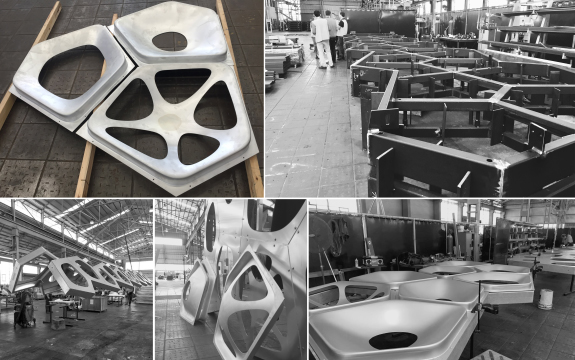 panels fabricated and assembled at Urban Art Project factory in Brisbane, image supplied by Urban Art Project